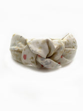 Cream Sparkle Double Gauze Knotted Headband