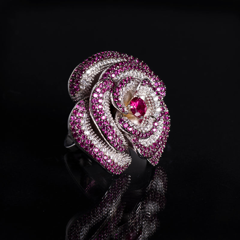 Large Cocktail Flower Ring