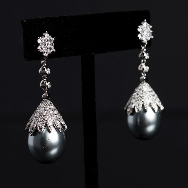 Grey Water Earrings