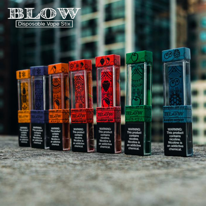BLOW DISPOSABLES VAPE STIX 280MAH 1.2ML PREFILLED NICOTINE SALT POD DEVICE - Prying Eye, Vape shop, vape store, vaporizers, personal vaporizers, vapeshopsupply, vapeshopsupplier, Electronic cigarette, e-cigarette, ecigarette, ejuice, e-juice, e-liquid, eliquid, discount ejuice, discount e-juice, ejuice bundles
