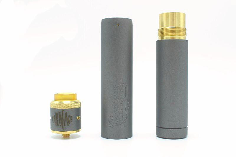 Purge Mods Back to Basics V3 Stacked Setup with Carnage RDA - Prying Eye, Vape shop, vape store, vaporizers, personal vaporizers, vapeshopsupply, vapeshopsupplier, Electronic cigarette, e-cigarette, ecigarette, ejuice, e-juice, e-liquid, eliquid, discount ejuice, discount e-juice, ejuice bundles
