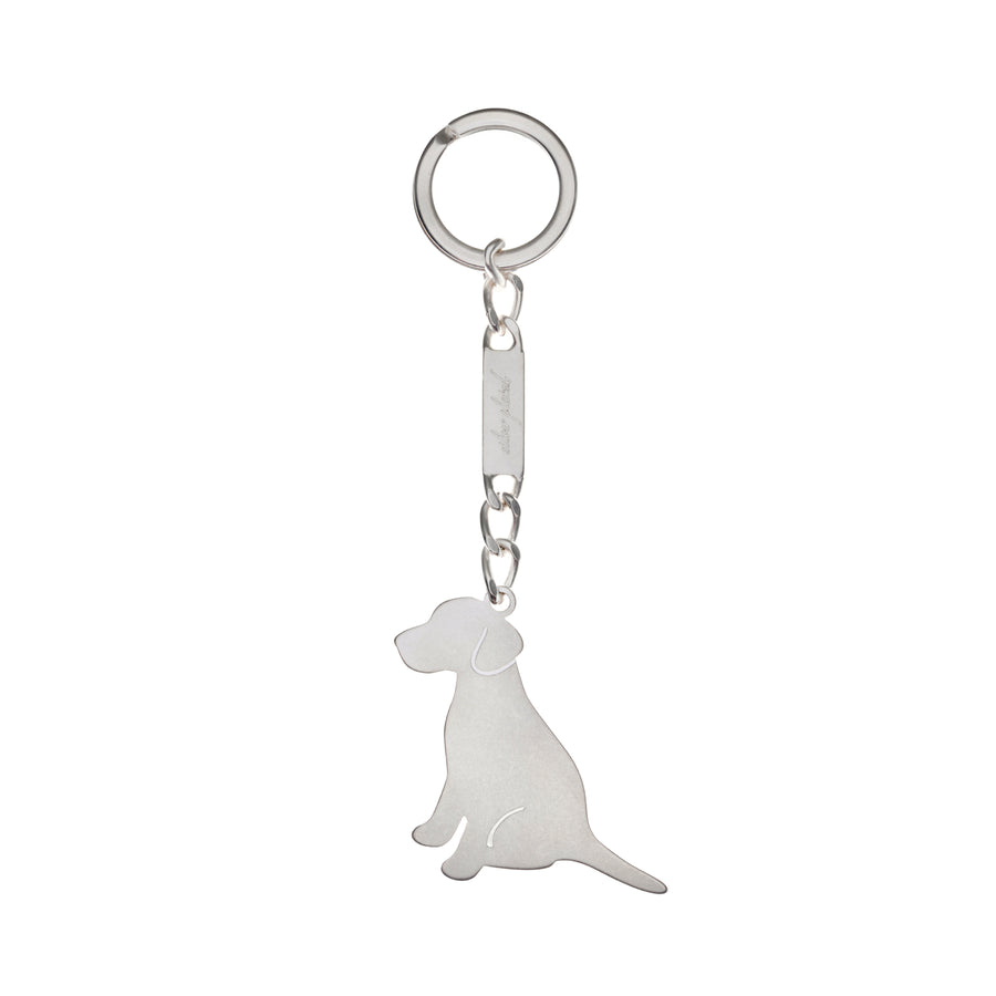 Key Ring Labrador Silver Plated