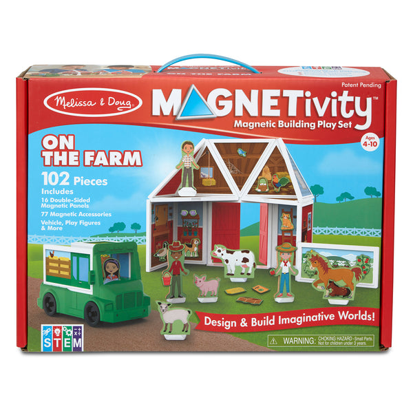 Melissa & Doug Magnetivity Magnetic Building Play Set - On the Farm