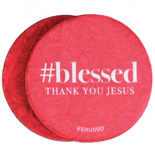 Thank You Jesus #blessed Neoprene Car Coaster