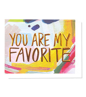 You Are My Favorite Single Copper Foil + Embossed Card | Thimblepress