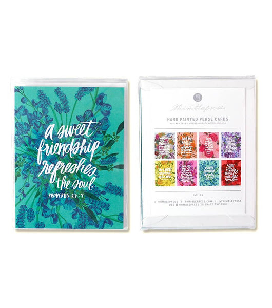 Box Set of 8 Bible Verse Greeting Cards | Thimblepress