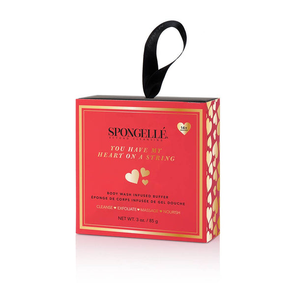 Boxed Heart On A String Body Wash Infused Buffer | Spongellé