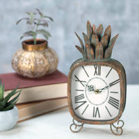 Pineapple Battery Operated Standing Clock