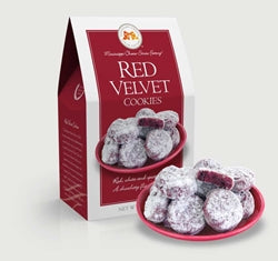 Mississippi Cheese Straw Factory Red Velvet Cookies 5.5 oz Carton