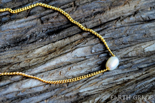 Pearl Slider Necklace - Earth Grace Artisan Jewelry