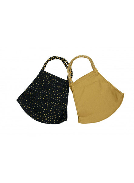 Pom Mask 2 Pack - Gold Dots | Pomchies
