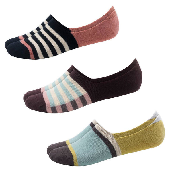 Casual Athletic Stripe No-Show Socks 3-Pack | Woven Pear