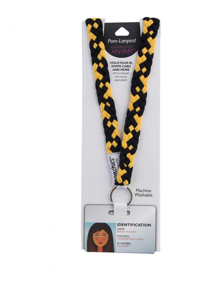 PomLanyard - Black/Yellow Gold | Pomchies