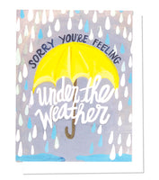 Thimblepress® Under The Weather Greeting Card