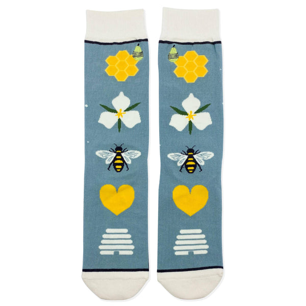 Save the Bees Crew Length Socks | Woven Pear