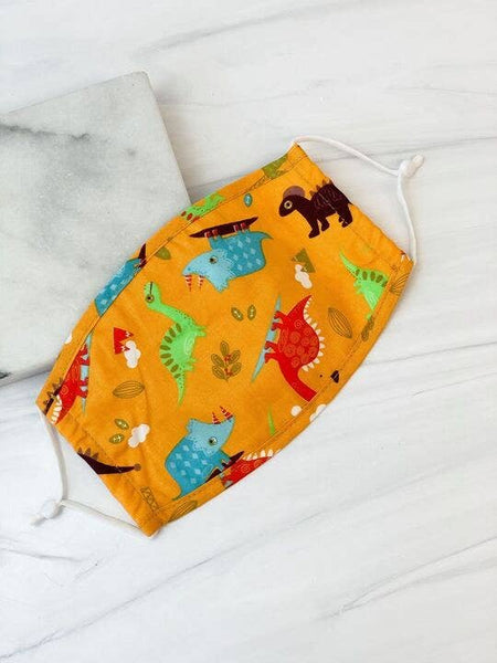 Dinosaur Print Reusable Kids Face Mask