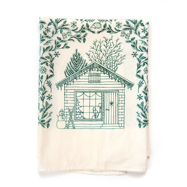 The Four Seasons Tea Towel - Winter