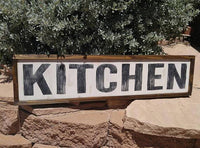 Kitchen Sign - Hand Painted Wood