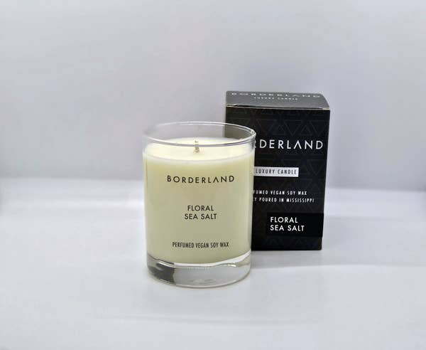 Floral Sea Salt // 14oz Soy Candle | Borderland Candles