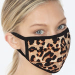 Leopard Print Washable Reusable Face Mask