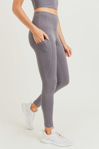 Stretch Leggings in Gun Metal