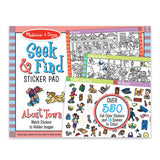 About Town Seek & Find Sticker Pad | Melissa & Doug