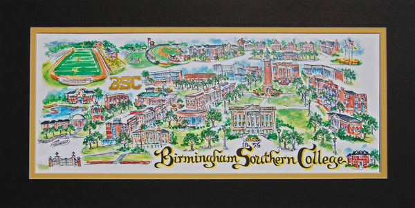Birmingham Southern University Limited Edition Print | Linda Theobald Art
