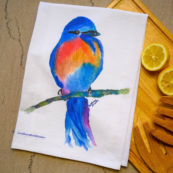 Blue Bird Towel | Southern Bird Studio