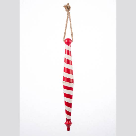 "SALE! 17"" Candy Cane Finial Ornament"