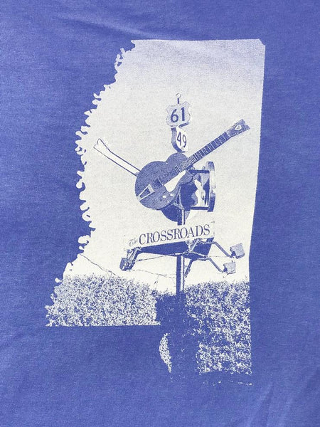 Mississippi Crossroads T-Shirt in Flo Blue