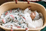 Kringle Knit Baby Swaddle or Receiving Blanket | Copper Pearl