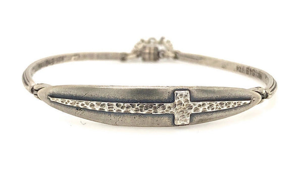 Courage Cross Bracelet in Sterling Silver | Earth Grace Artisan Jewelry