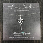 For God So Loved The World Sterling Silver Necklace