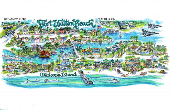 Ft. Walton Beach Limited Edition Art Print