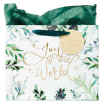 Joy to the World Large Christmas Gift Bag with Tissue