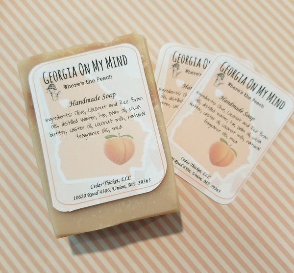 Georgia on My Mind Where's the Peach Handmade All Natural Soap Bar