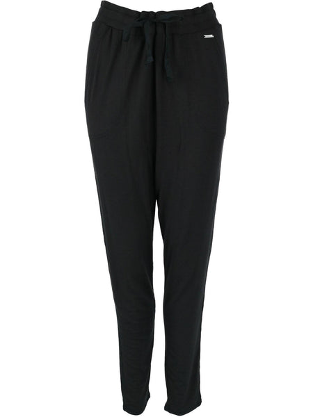 Weekender Stretchcool Drawstring Lounge Pant Black | Hello Mello