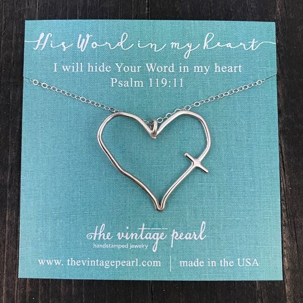 His Word in My Heart Sterling Silver Necklace