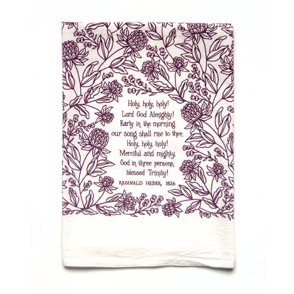 Holy! Holy! Holy! Hymn Tea Towel