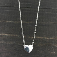 I Love You More Heart Sterling Silver Necklace