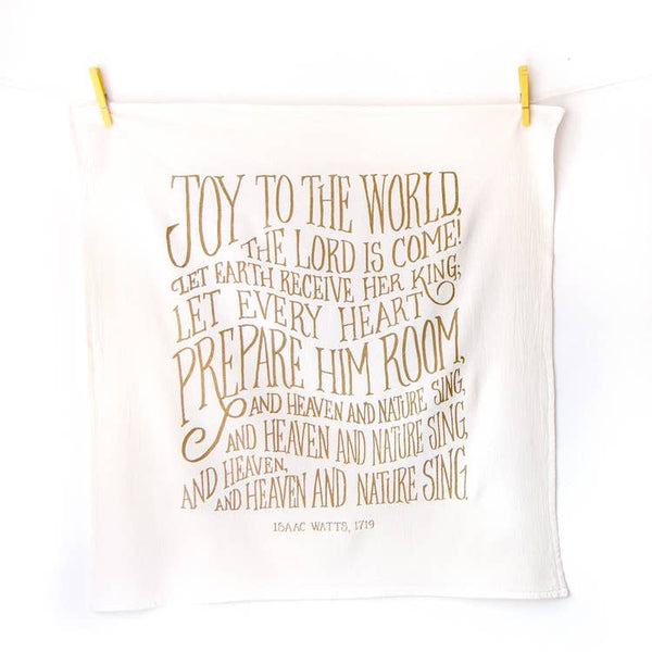 Joy To The World Christmas Tea Towel | Little Things Studio