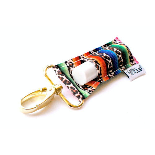 Leopard Serape LippyClip Lip Balm Holder