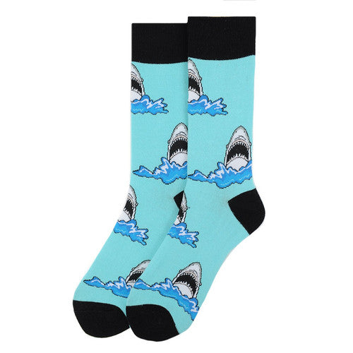 Men's Shark Fun Crew Socks
