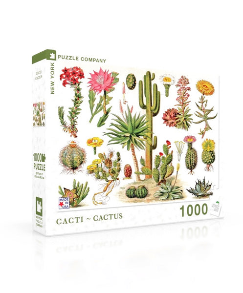 Cacti ~ Cactus 1000 Piece Jigsaw Puzzle | New York Puzzle Company