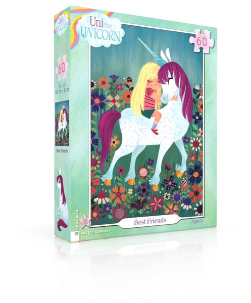 Uni the Unicorn Best Friends 60 Piece Jigsaw Puzzle | New York Puzzle Company