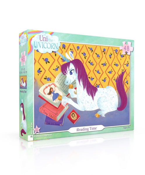 Uni the Unicorn Reading Time 48 Piece Jigsaw Puzzle | New York Puzzle Company
