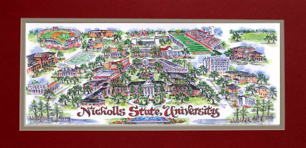 Nicholls State University Limited Edition Art Print by Linda Theobald