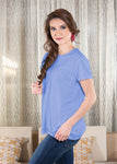 Luxe T-Shirt in Periwinkle
