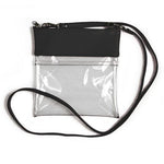 SALE! Clear Gameday Stadium Crossbody Black Vegan Leather Purse