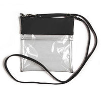 Clear Gameday Stadium Crossbody Black Vegan Leather Purse